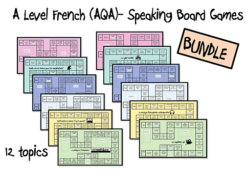 Year 1 + 2 topics- Board Games- BUNDLE