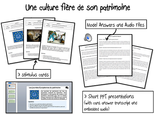 Une culture fière de son patrimoine-Stimulus Cards/ Model Answers and Audio