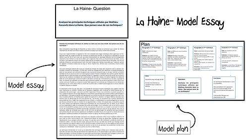 La Haine- Model Essay- Techniques