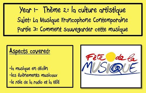 La musique francophone contemporaine- Part 3