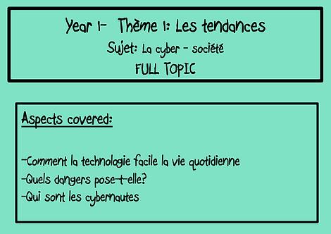 La cyber-société: FULL TOPIC