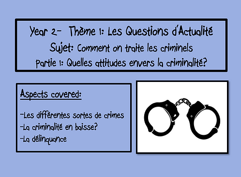 Comment on traite les criminels- Part 1