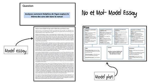 No et Moi- Model Essay- Le thème des sans-abri