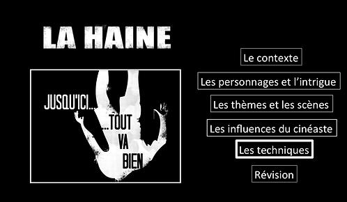 La Haine: Les techniques