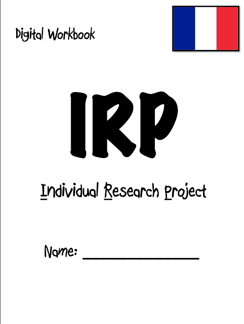 IRP- Individual Research Project- (Digital) Workbook