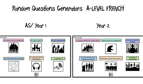 Year1 and Year2 Topics-Random Questions Generators