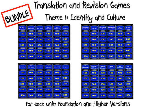 GCSE theme 1-Revision and Translation Game
