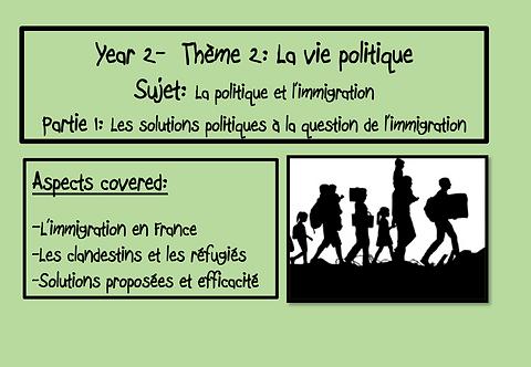 Politique et immigration- Part 1