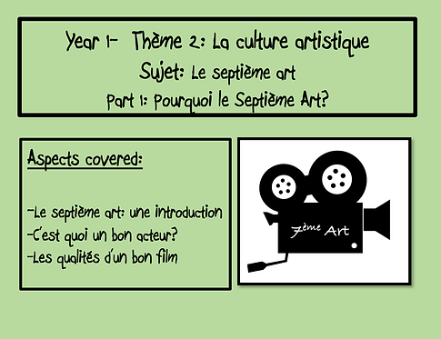 Le Septième Art- Part 1