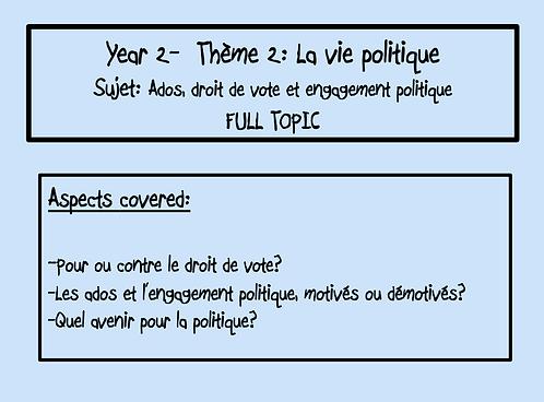 Ados, droit de vote et engagement politique- FULL TOPIC