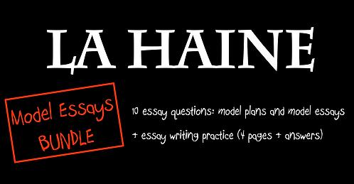 La Haine- Model Essays- BUNDLE