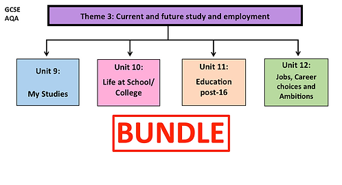 GCSE- Theme 3: Current and future study and employment-BUNDLE
