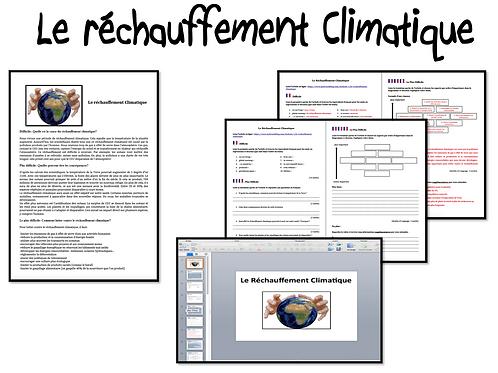 Le Réchauffement Climatique- Activities