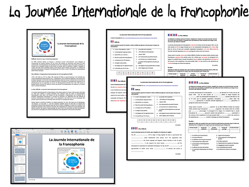 Journée Internationale de la Francophonie- Activities