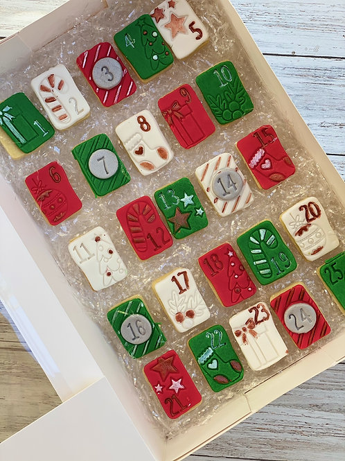 Gluten Free Christmas Cookie Advent Calendar