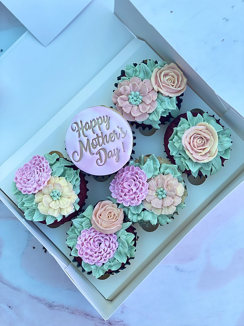 Gluten Free Floral Mother's Day Cupcake set