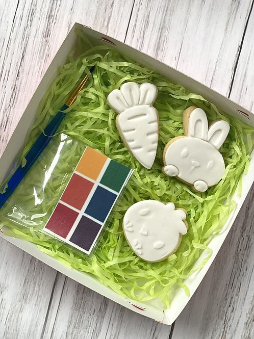 Chick and Bunny PYO Cookie set
