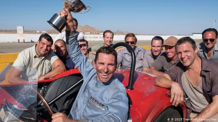 Christian Bale as racer Ken Miles in an early 289 Cobra race car replica.    Image by Fox