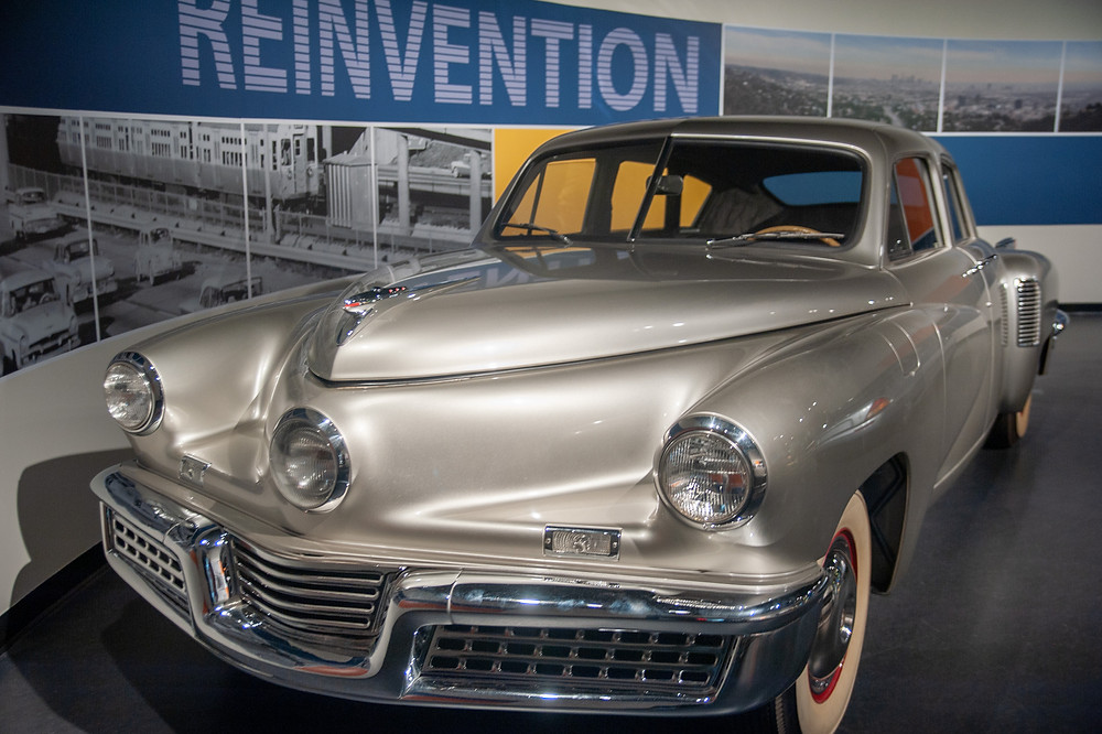 This ultra-rare Tucker 48 sedan was created with a rear-mounted 5.5 liter flat-six sourced from a helicopter rotor.
