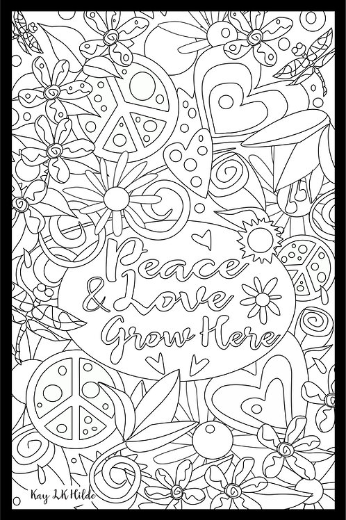 Color Peace & Love Poster