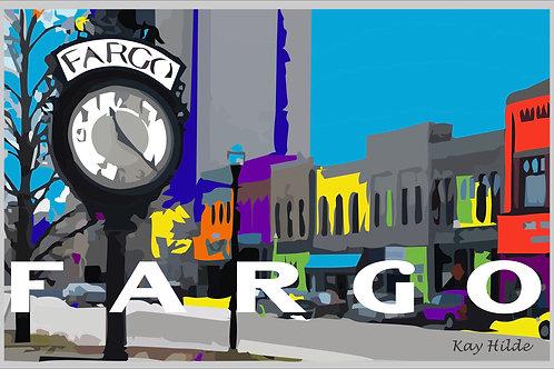 Fargo Clock Poster