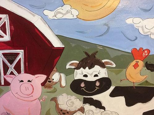 Barnyard Buds Canvas Print