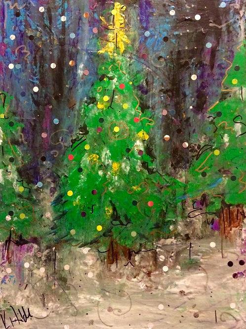 Evergreen Sparkle Canvas Print