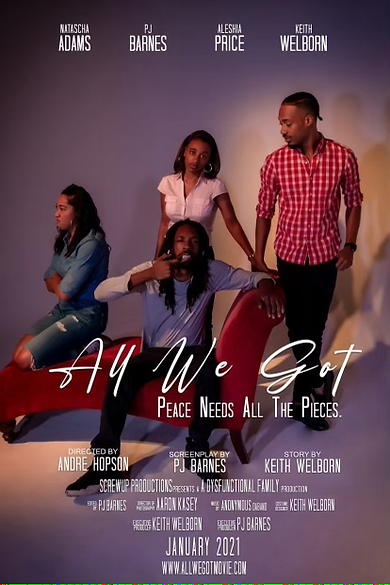 all we got movie poster local charlotte film