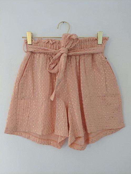 Short gaze de coton rose