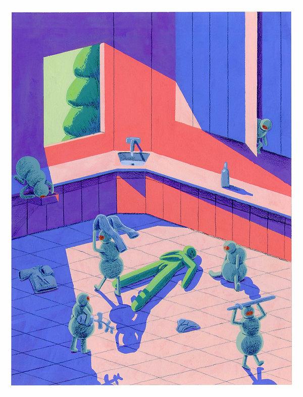 goblins gouache painting illustration illustrator design cartooning abstract drawing fantasy adventure