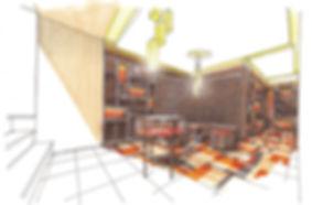 투시도 컬러투시도 perspective interior design 디자인 프레젠테이션 인테리어 스케치 컬러링 건축스케치 디자인스케치 찬앤파트너스 찬&파트너스 CHAN&partners