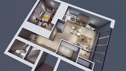 3D CG isometric interior design インテリデザイン 建築デザイン ホテルデザイン ホームデザイン ハウスデザイン マンションデザイン 住宅デザイン チャン&パートナーズ 찬앤파트너스 찬&파트너스