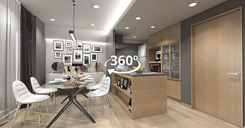 3d CG - Virtual Reality 建築cCG VR 360°パノラマCG