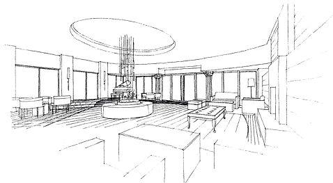 rough sketch interior design 手書きパース インテリアデザイン 内装デザイン 空間デザイン CHAN&partners 찬&파트너스 찬앤파트너스 ホテルデザイン