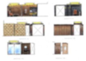 color elevation interior design カラー エレヴェーション カラー立面 インテリアスケッチ アイデアスケッチ カラー展開図 手書きパース チャン&パートナーズ CHAN&partners 찬&파트너스 찬앤파트너스