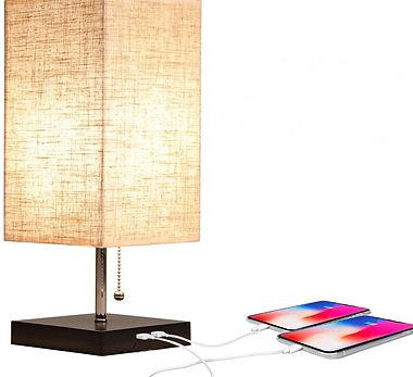 Apbeam Dual USB Table Lamp