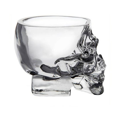 Skull glass cup