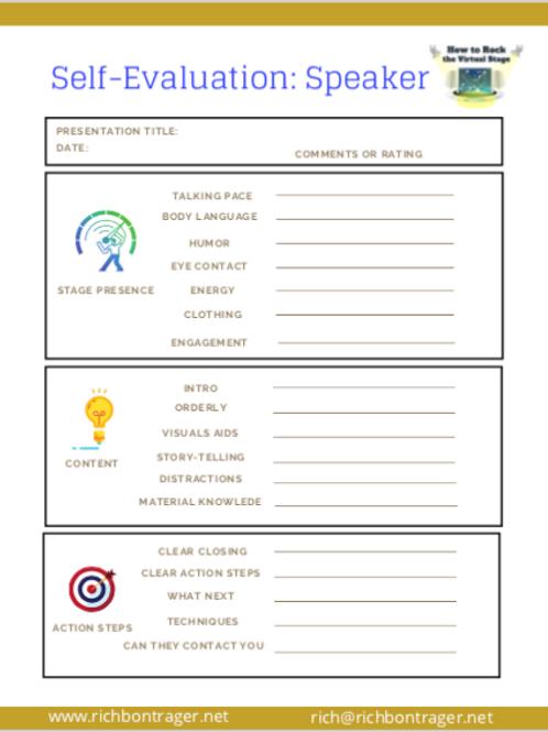 Self-Evaluation Speaker Form