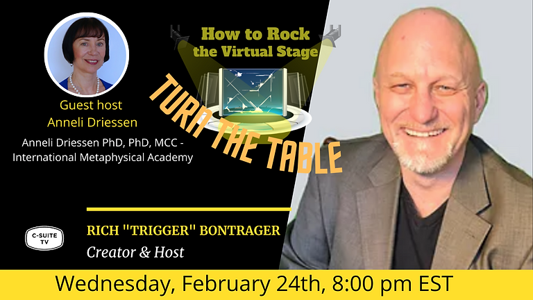 How to Rock the Virtual Stage Show Turn the Table Episode with Anneli Driessen