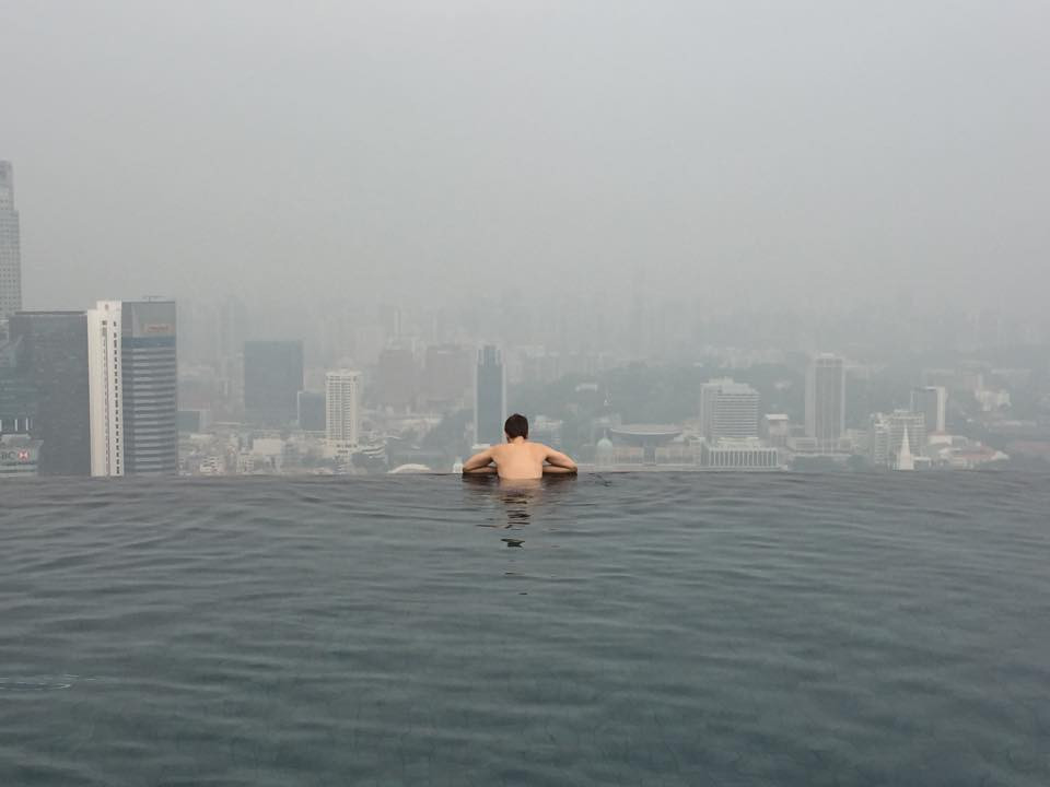 Marina Bay Pool mit Smog