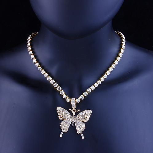 Rhoer Butterfly Pendant Necklace