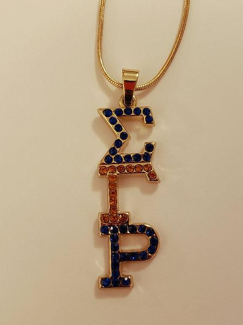 Sigma Gamma Rho Austrian Crystal Necklace