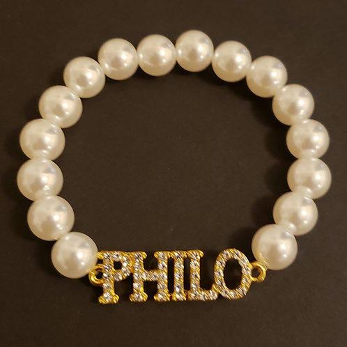 Philo Affiliates Pearl & Crystal Bracelet