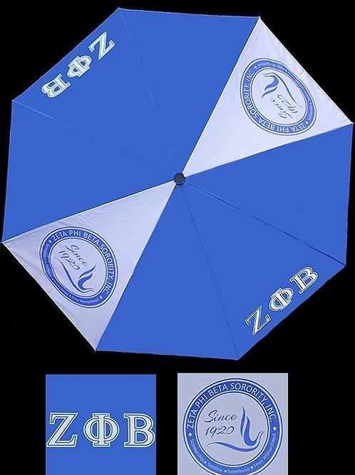 Zeta Phi Beta Reverse Umbrella