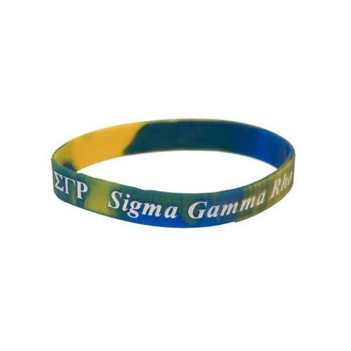 Sigma Gamma Rho Silicon Bracelet