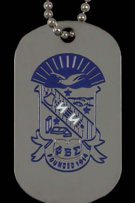 Phi Beta Sigma Double Sided Dog Tags