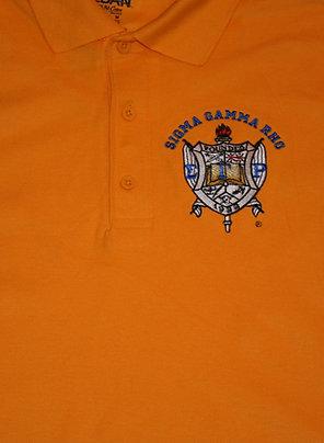 Sigma Gamma Rho - Gold Polo Shirt