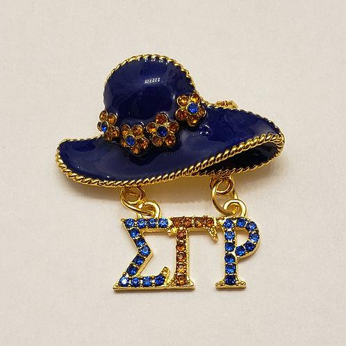 Sigma Gamma Rho Hat Brooch Pin