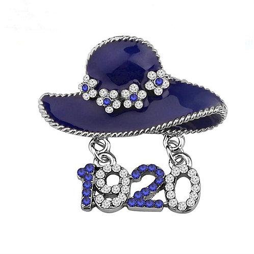 Zeta Phi Beta Hat Brooch Pin