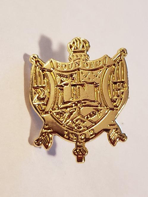 Sigma Gamma Rho Gold Shield Lapel Pin